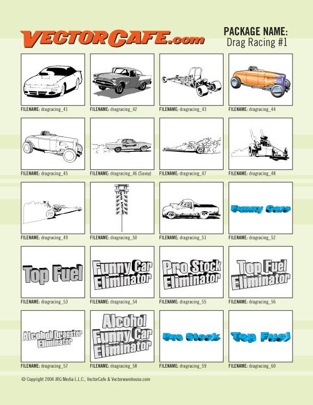 Drag Racing Clip Art 01 | Race Car Clipart